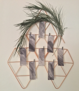 geometric copper seating plan